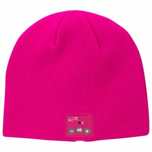 iLive  Wireless Music Bluetooth Knit Beanie - Pink Perspective: front