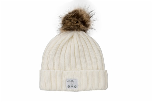 iLive Wireless Music Knit Beanie with Pom Perspective: front