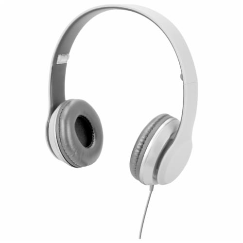 iLive Over the Ear Headphones - White Perspective: front