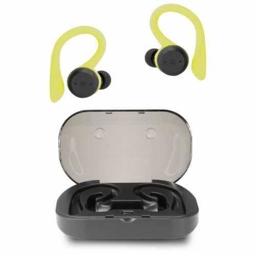 iLive Truly Wireless Sport Earbuds with Case Perspective: front