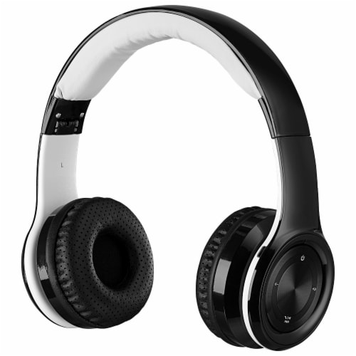 iLive IAHB239B Bluetooth Headphones - Black/White Perspective: front
