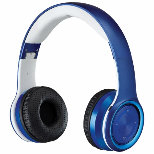 iLive IAHB239BU Bluetooth Headphones - Blue/White Perspective: front