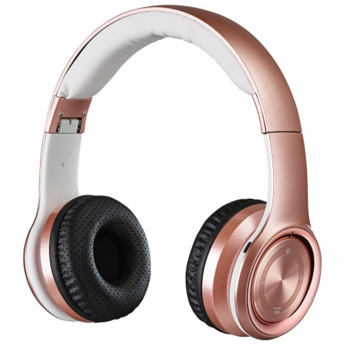 iLive IAHB239RGD Bluetooth Headphones - Rose Gold/White Perspective: front