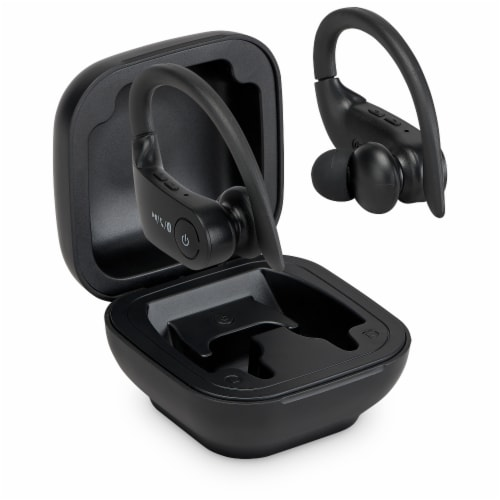 iLive True Wireless Sport Earbuds with Case - Black Perspective: front