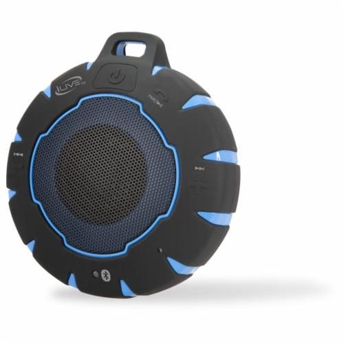 iLive Waterproof Wireless Speaker - Black/Blue Perspective: front