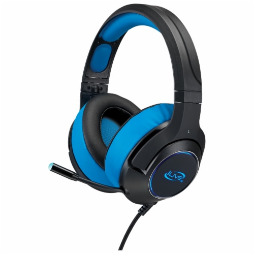 iLive G49B Gaming Headphones - Black/Blue Perspective: front