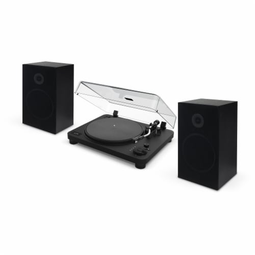 iLive Turntable and Speaker Bundle Perspective: front
