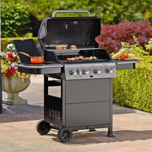 Char Broil Classic 4 Burner Gas Grill   Black Perspective: Front