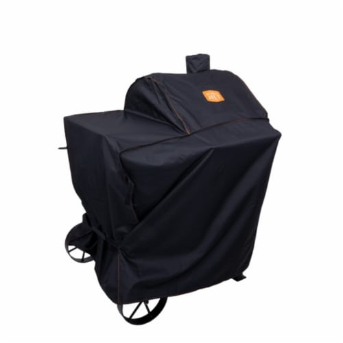 Oklahoma Joe's Black Grill Cover For Rider 600 41 in. W x 49 in. H - Case Of: 4; Perspective: front