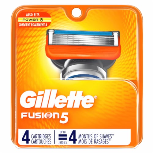 Gillette Fusion5 Men's Razor Blade Refill Cartridges Perspective: front