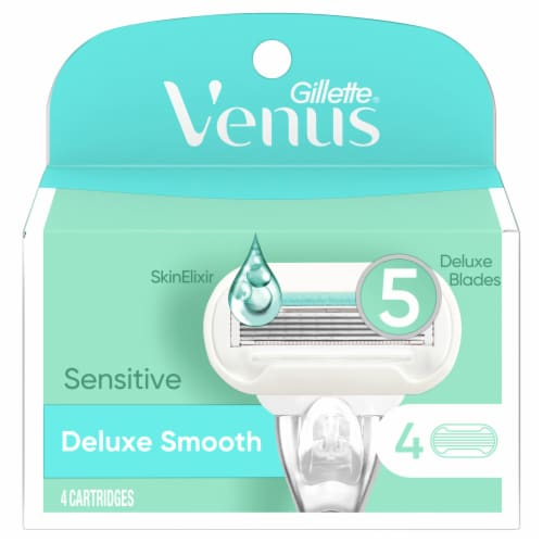 Gillette Venus Extra Smooth Sensitive Women's Blade Refills Cartridges Perspective: front