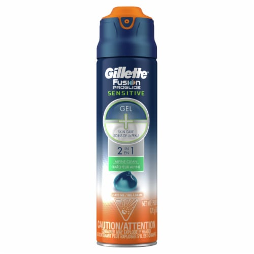 Gillette Fusion ProGlide Sensitive 2-in-1 Alpine Clean Shave Gel Perspective: front