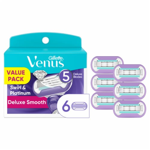 Gillette Venus Deluxe Smooth Refill Cartridges Perspective: front