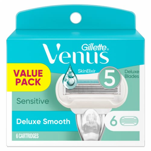 Gillette Venus Deluxe Smooth Sensitive Razor Cartridges Perspective: front