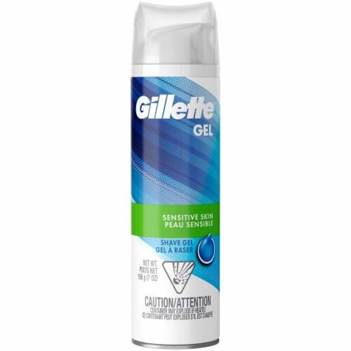 Gillette Sensitive Skin Shave Gel Perspective: front