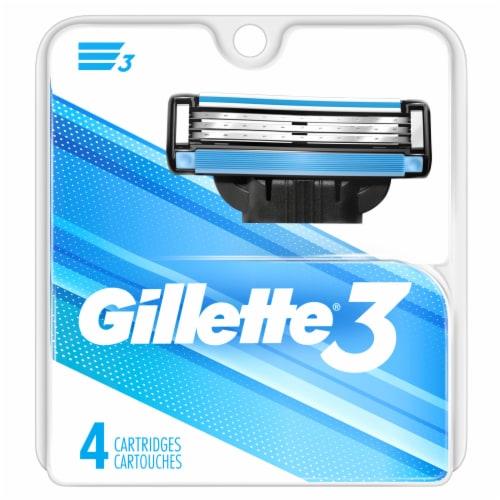 Gillette 3 Men's Razor Blade Refills Perspective: front