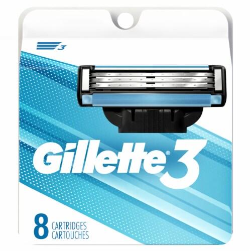 Gillette3 Men's Razor Blade Refills Perspective: front