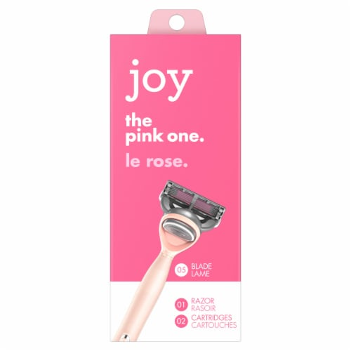 joy The Pink One Razor and Cartridges Perspective: front