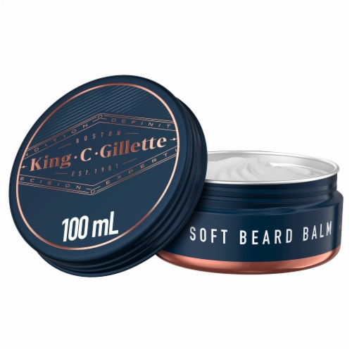 King C. Gillette Men's Soft Beard Balm Perspective: front