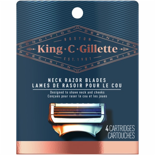King C. Gillette Neck Razor Blade Cartridges Perspective: front