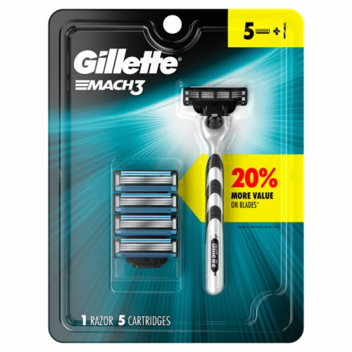 Gillette® Mach3 Razor and Cartridges Perspective: front