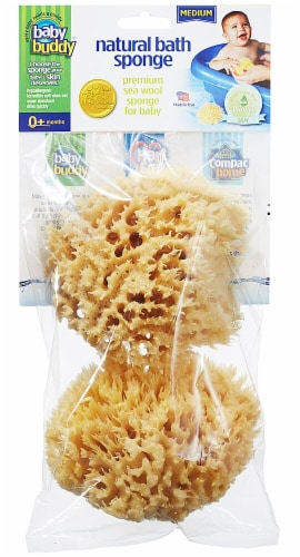 Baby Buddy  Natural Sea Wool Bath Sponge - Medium Perspective: front