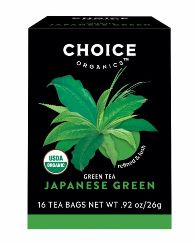 Choice Organic Japanese Green Tea Bags Perspective: front