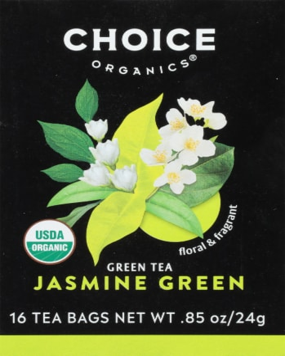 Choice Organic Jasmine Green Tea Bags Perspective: front