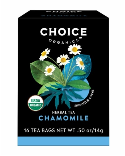Choice Organics Chamomile Herbal Tea Bags Perspective: front