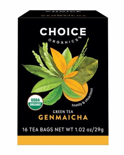 Choice Organics Genmaicha Green Tea Bags Perspective: front