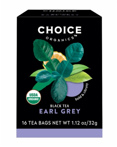 Choice Organic Earl Grey Tea Bags Perspective: front