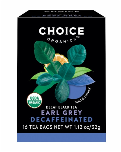 Choice Organic Decaffeinated Earl Grey Tea Bags Perspective: front
