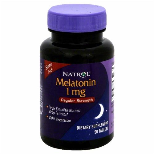 Natrol Melatonin Regular Strength Tablets 1mg Perspective: front