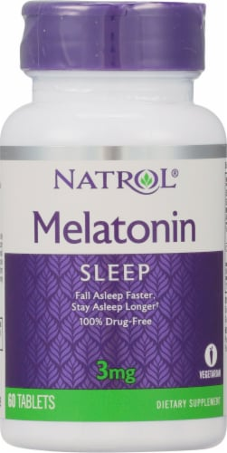 Natrol Melatonin Tablets 3mg Perspective: front