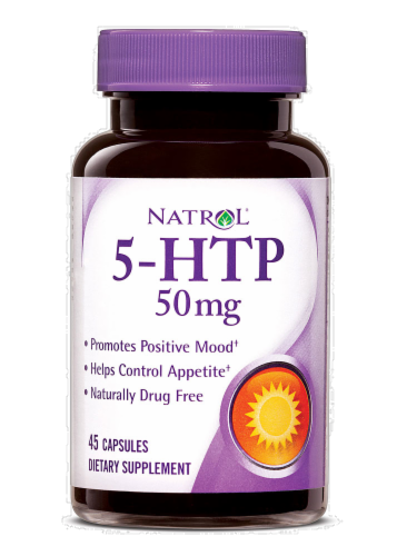 Natrol 50mg 5-HTP Perspective: front