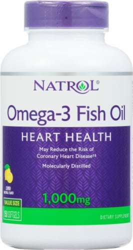 Natrol Omega-3 Fish Oil 1000mg Heart Health Supplement Perspective: front