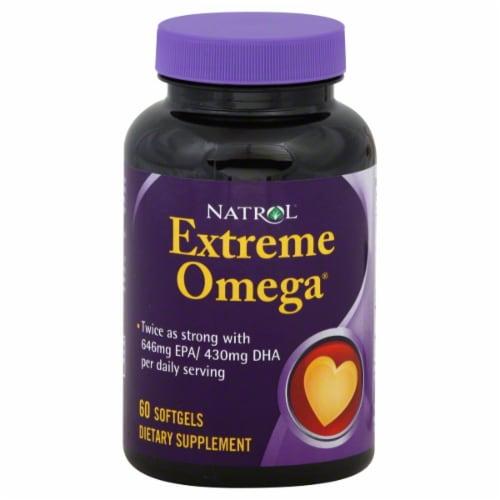 Natrol Extreme Omega Softgels Perspective: front