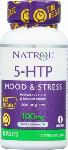 Natrol 5-HTP Time Release 100mg Perspective: front
