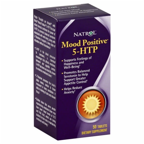 Natrol Mood Positive 5-HTP Dietary Supplement Perspective: front