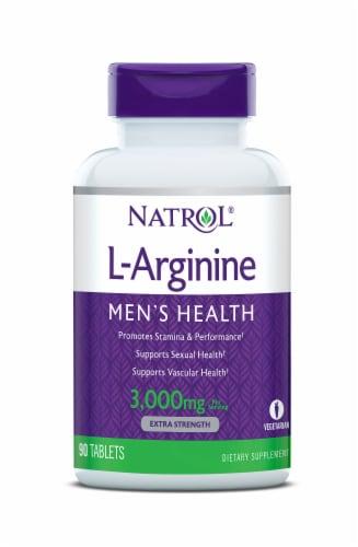 Natrol L-Arginine Tablets Perspective: front