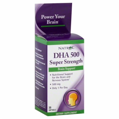 Natrol DHA 500 Super Strength Perspective: front