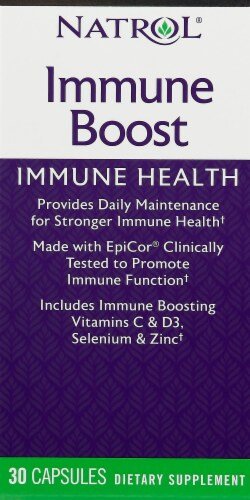 Natrol Immune Boost Capsules Perspective: front