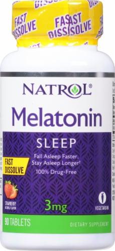 Natrol Melatonin 3mg Supplement Perspective: front