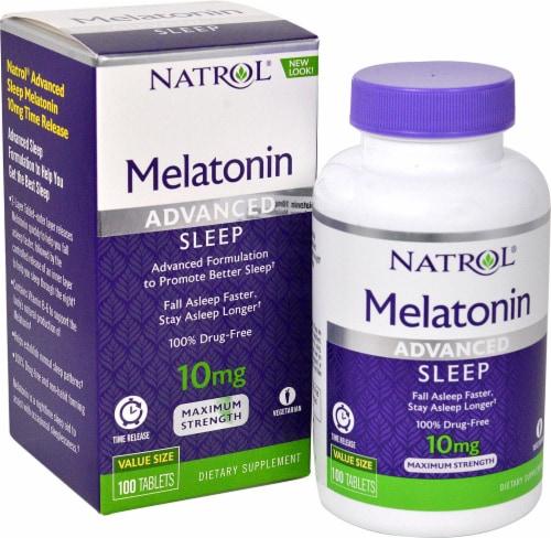 Natrol  Advanced Sleep Melatonin Perspective: front