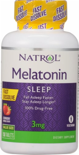 Natrol  Melatonin Strawberry Flavored Tablets Perspective: front