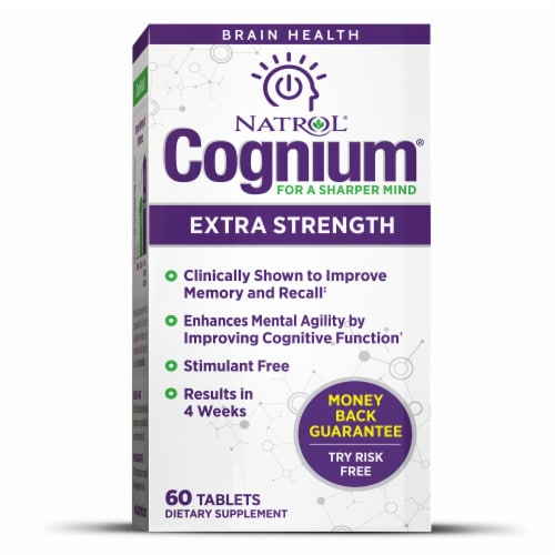 Natrol Cognium Extra Strength Tablets Perspective: front