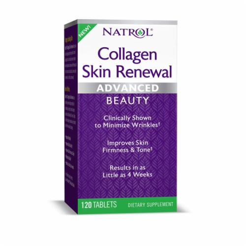 Natrol Collagen Skin Renewal Advanced Beauty Tablets Perspective: front