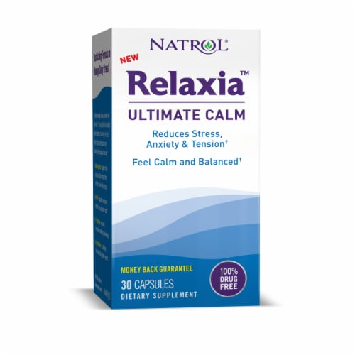 Natrol Relaxia Ultimate Calm Capsules Perspective: front