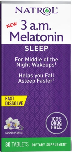 Natrol 3 a.m. Melatonin Tablets 30 Count Perspective: front