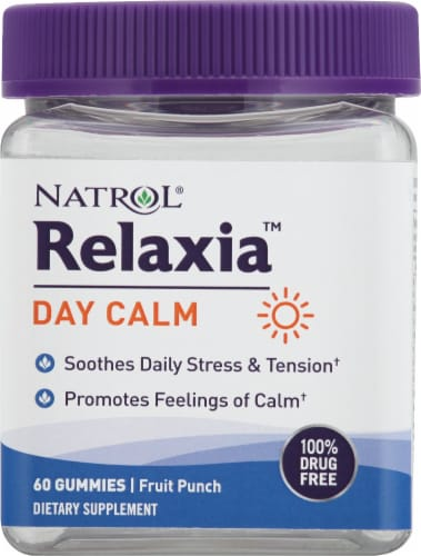 Natrol Relaxia Day Calm Fruit Punch Gummies Perspective: front